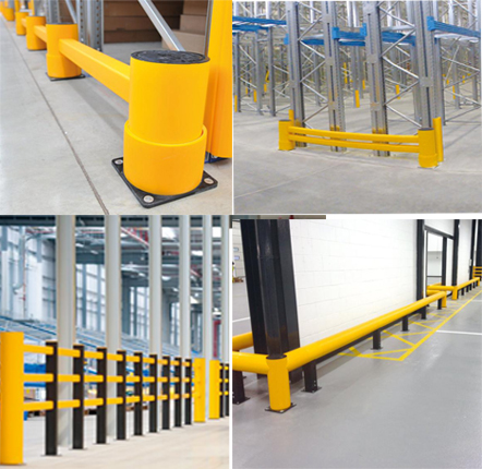 A safe flexible guard rail collage - Protection / Safety