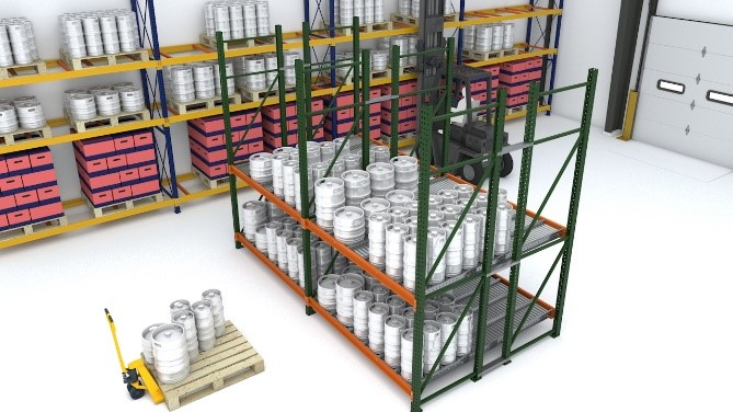 Keg Flow drawing - Carton Flow Rack