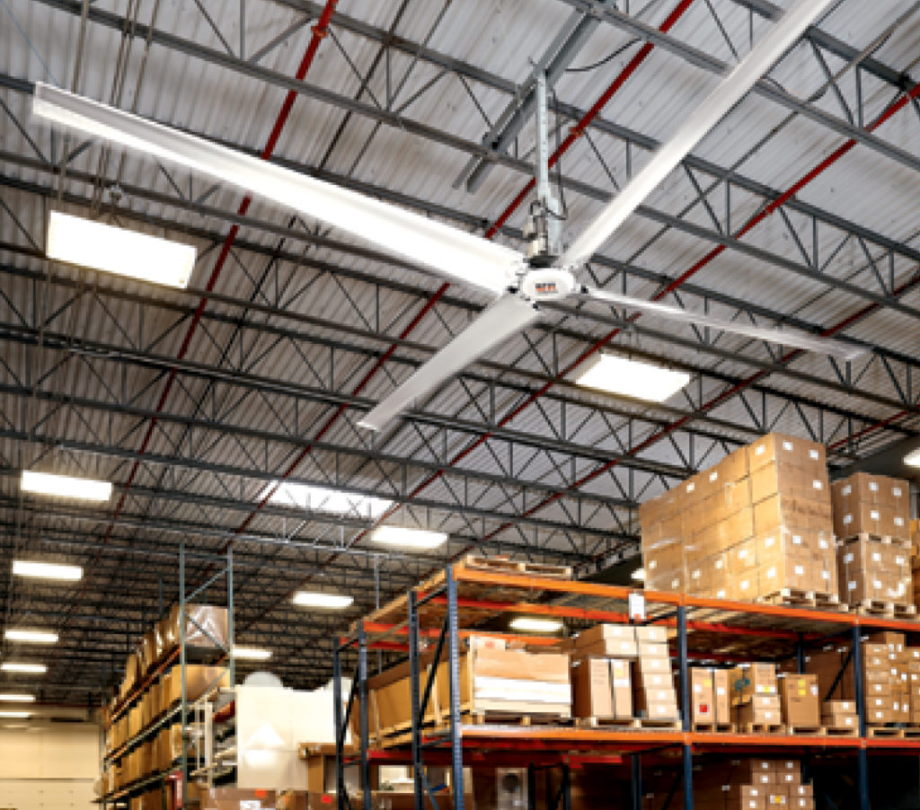 revolution HVLS fan 1024x902 - Warehouse Fans