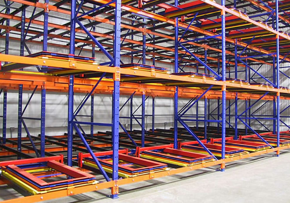 Push back rack main mathand - Pallet Rack Types