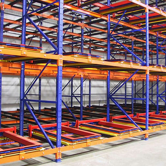 Push back rack main mathand square - Material Handling Systems | Design, Supply, and Installation | Mathand